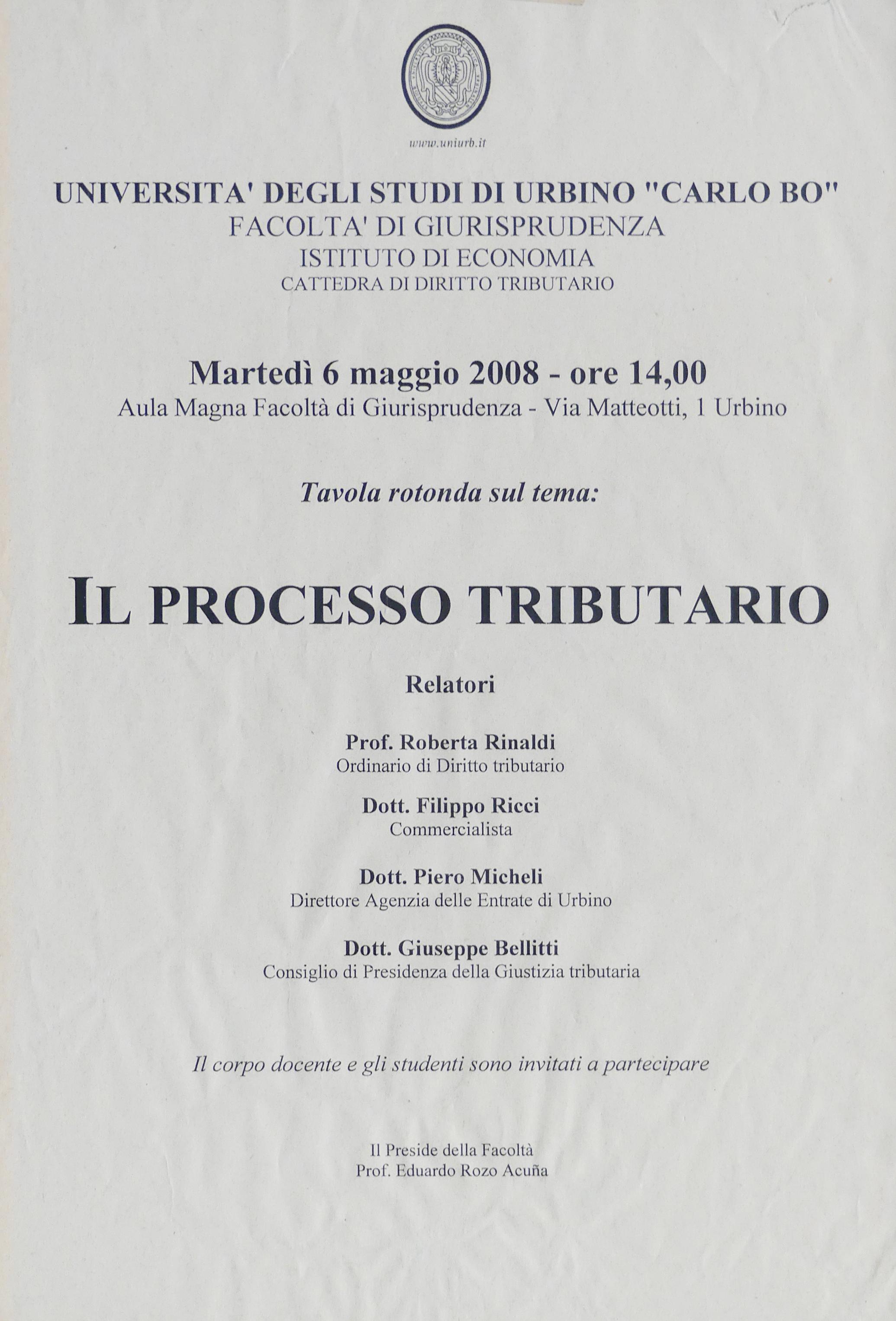 2008-05-06_Il Processo Tributario