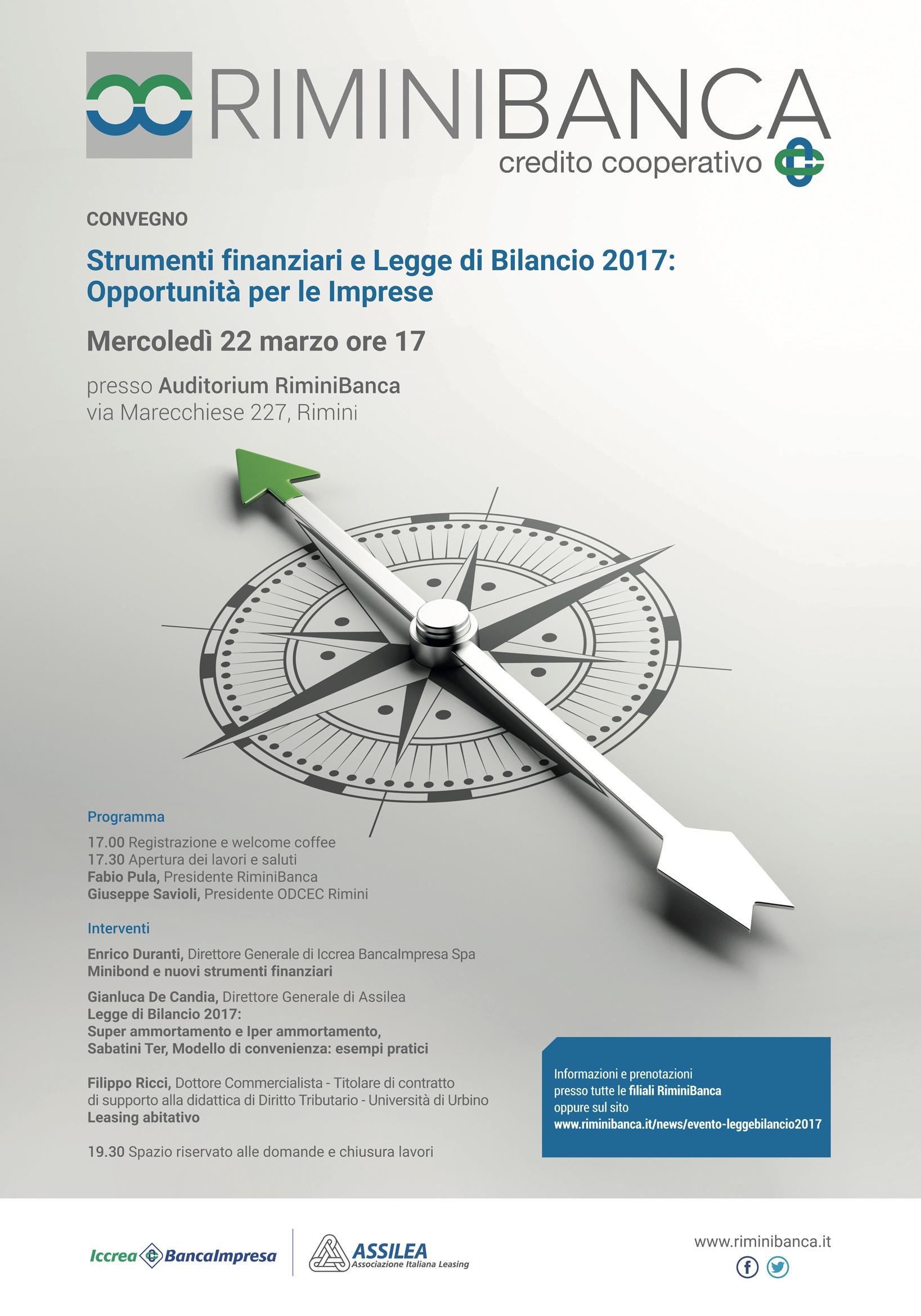 Convegno Rimini Banca 22.03.2017 - Strumenti finanziari e legge di bilancio 2017- relatore Filippo Ricci, Dottore Commercialista